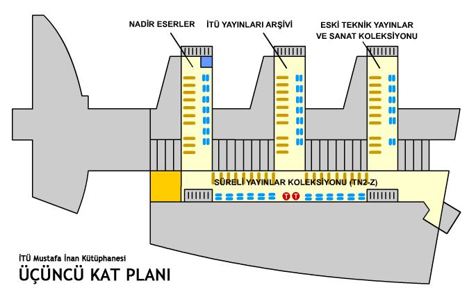 Kütüphane Kat Planı 3. Kat